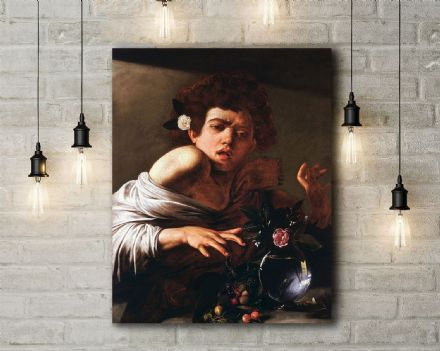 Caravaggio: Boy Bitten by a Lizard. Fine Art Canvas.